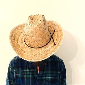 Cowboy Hat Woven Straw Western Style Unisex